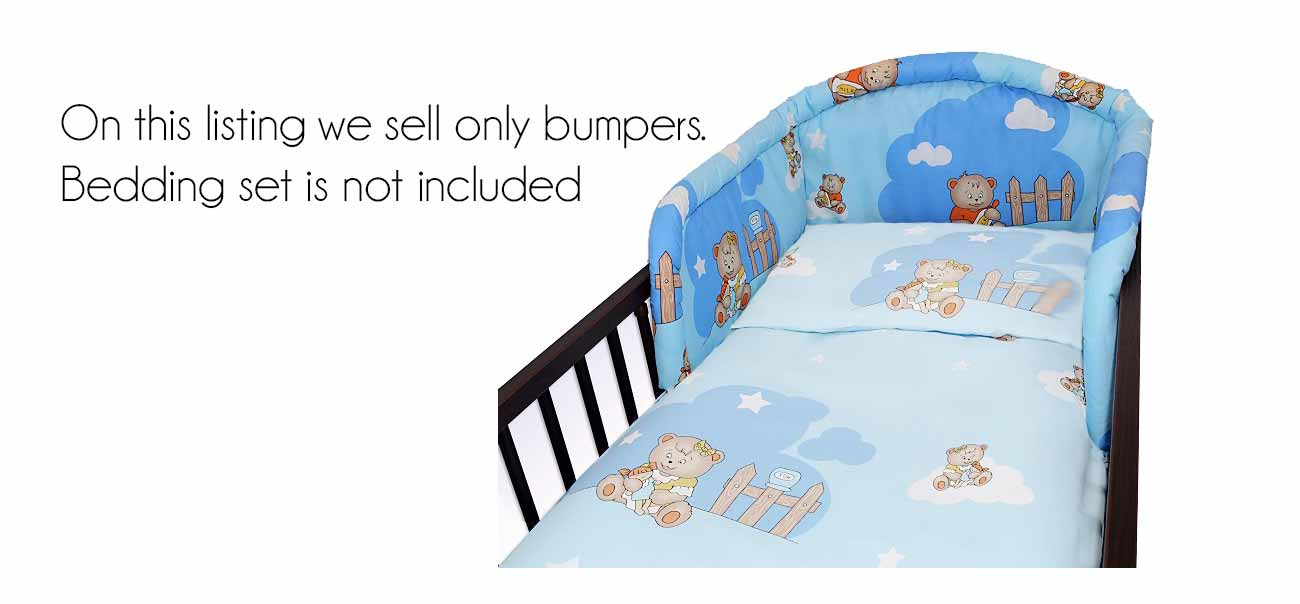 Padded Bumper For Cot And Cot Bed Nursery Baby Uk