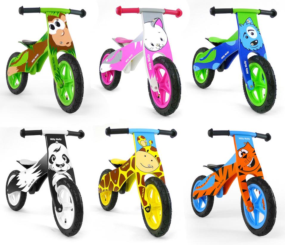 Kids Boys Girls Baby Wooden Balance Training Bike Wood Learning